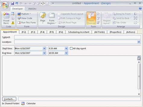 outlook form templates tips for customizing outlook appointment forms