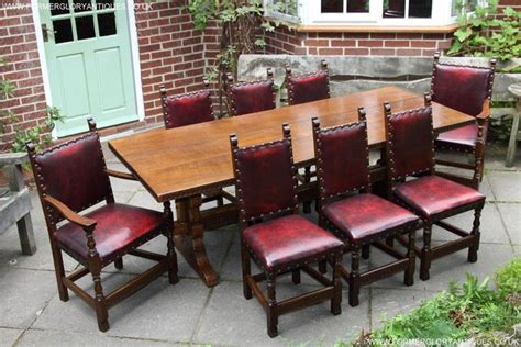 oak dining table and 8 chairs for sale nigel griffiths carved oak dining table 8 chairs armchairs