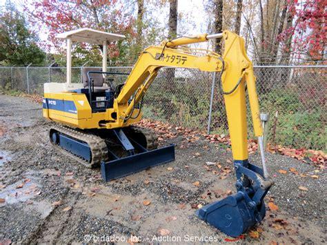 komatsu pc  mini excavator backhoe  blade rubber tracks diesel repair ebay