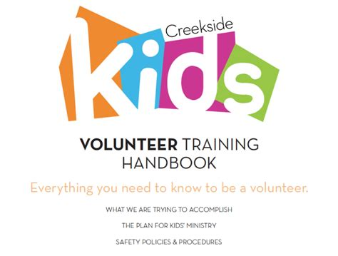 kids ministry volunteer training book