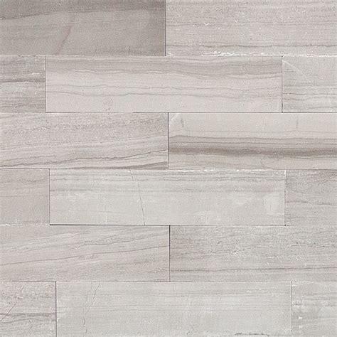 Shop 9 Pcssq Ft Athens Gray 2x8 Brushed Stone Tile At