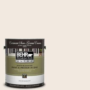 Home & garden online trade show. BEHR Premium Plus Ultra 1 gal. #12 Swiss Coffee Semi-Gloss Enamel Exterior Paint-585001 - The ...