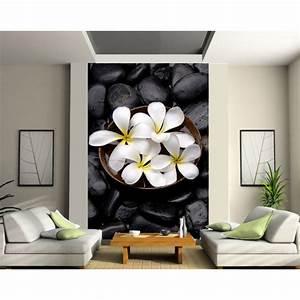Papier Peint Geant : papier peint g ant fleurs art d co stickers ~ Premium-room.com Idées de Décoration