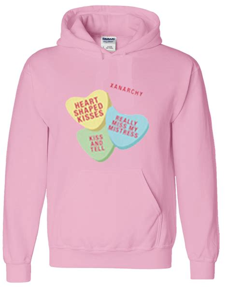 hooded sweatshirt hoodie custom shaped kisses hoodie