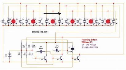 Circuit Led Running Diagram Chaser Using Transistors