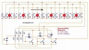 Led Chaser Circuit Using Transistors  Led Running Light