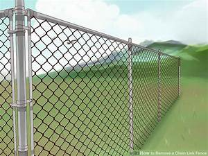 How To Remove A Chain Link Fence  With Pictures