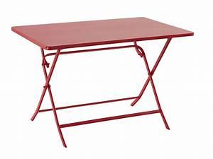 Table 4 Personnes : table pliante 4 personnes greensboro coloris groseille ~ Melissatoandfro.com Idées de Décoration