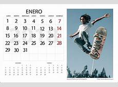 Calendario 2018 para Editar Personalizable de dzoom