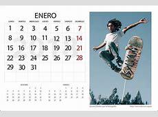 Calendario 2018 para Editar Personalizable de dzoom