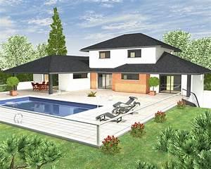 plan de maison en l avec etage maison francois fabie With modele de maison en l 5 image maison tunisienne