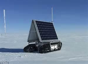 Solar panels and radar mounted on snowmobile tracks? Meet ...