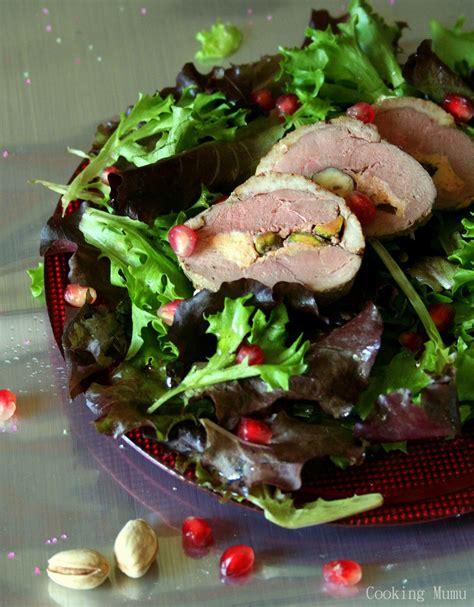 ballotine de magret de canard au foie gras  fruits secs