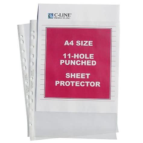 a4 size standard weight sheet protector 50 bx 08037 c
