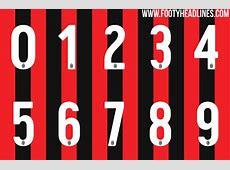AllNew AC Milan 1718 Kit Font Released Footy Headlines