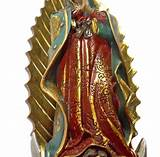 Mexican virgin mary statues outdoor