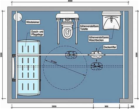 höhe handlauf din 18040 standardhohe waschbecken
