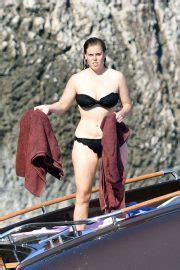 princess beatrice  black bikini   boat  capri