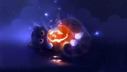 Desktop Halloween Wallpapers Cat Background Lovely