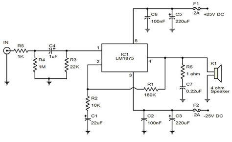20 watt lifier electronic circuit diagram and layout
