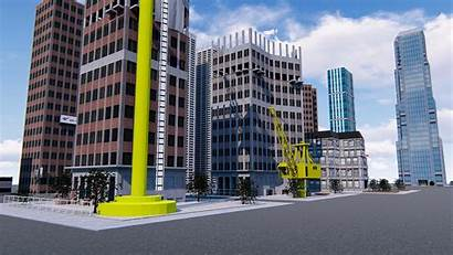 3d Buildings Office Skyscrapers Exterior Poly Low