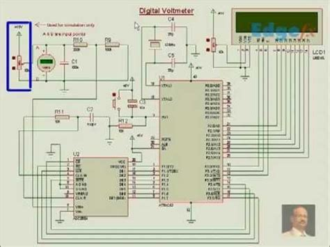 Digital Voltmeter Circuit Diagram General Circuits Youtube