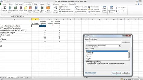 excel and questionnaires how to enter the data and create the charts