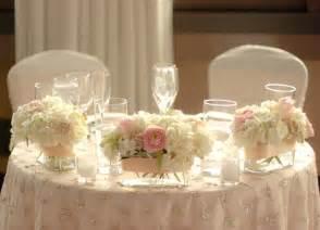 Sweetheart Table Decor Flowers And Overlay Sweetheart