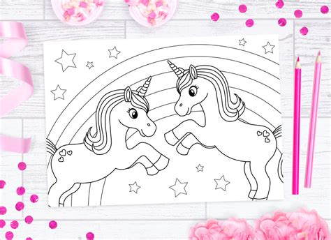 unicorn colouring sheets doodle  stitch