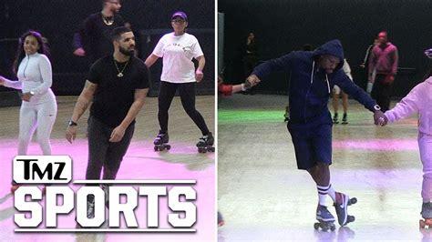 Drake Hits Floyd Mayweather's Roller Skating Party, Skates