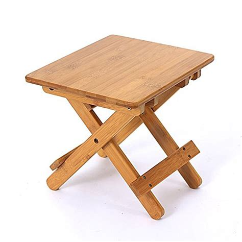 Shower Step Stool by Home Wooden Furniture Foldable Bamboo Footstool Shower