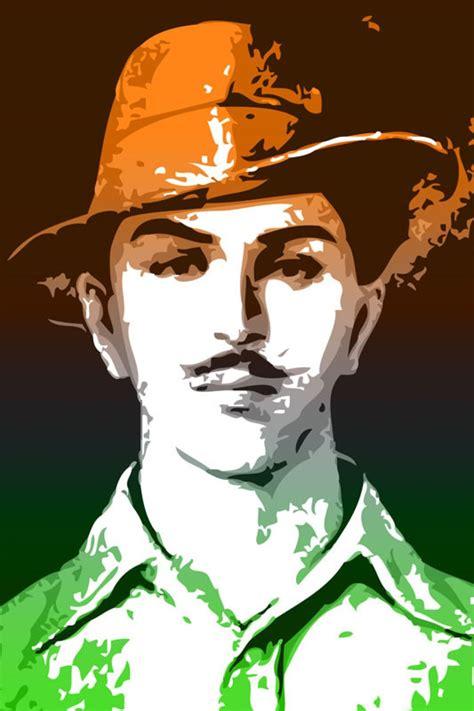 bhagat singh tricolor paper print personalities