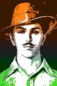 Bhagat Singh - Tricolor Paper Print - Personalities