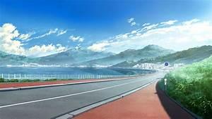 Landscape, Clouds, Road, Grisaia, No, Kajitsu, Wallpapers, Hd, Desktop, And, Mobile, Backgrounds