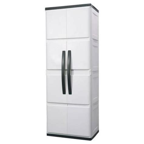 plastic storage cabinets with doors hdx 26 in plastic cabinet discontinued 194983 the home