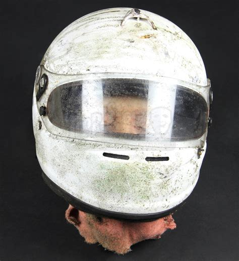 crashed racing driver body severed head  helmet rp
