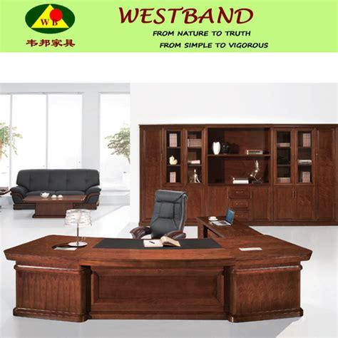 bureau directeur grand bureau moderne de directeur en bois plein tableau