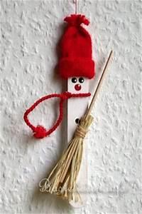 Holz Schnell Trocknen : basteln mit kindern weihnachten weihnachtsbasteleien a sager schneemann baumanh nger ~ Frokenaadalensverden.com Haus und Dekorationen