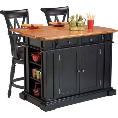 Kitchen Island Walmart by Home Styles Traditions Kitchen Island With 2 Deluxe Bar