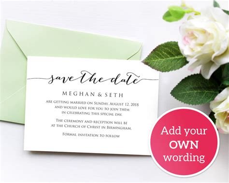 save  date wedding template wedding templates