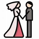 Couple Married Icon Bride Pareja Groom Icons