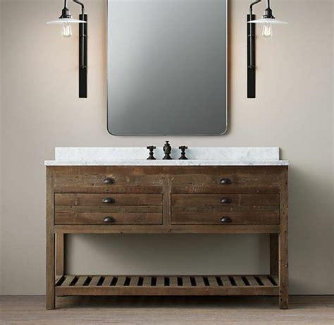 Bad Waschtisch Holz by Waschtisch Aus Holz Und Andere Rustikale Badezimmer Ideen