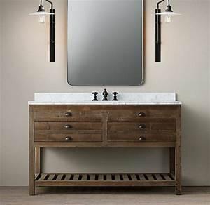 Waschtisch Für Aufsatzwaschbecken Aus Holz : waschtisch aus holz und andere rustikale badezimmer ideen ~ Michelbontemps.com Haus und Dekorationen