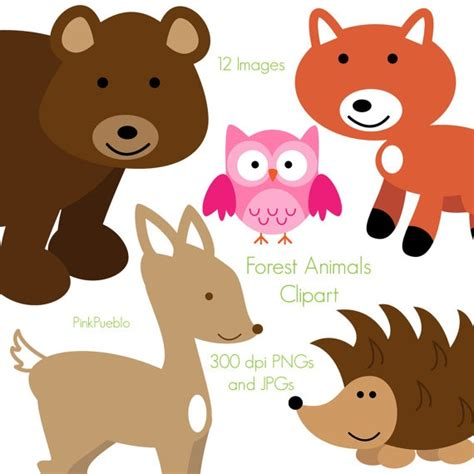 forest animal clip art forest animals clipart woodland