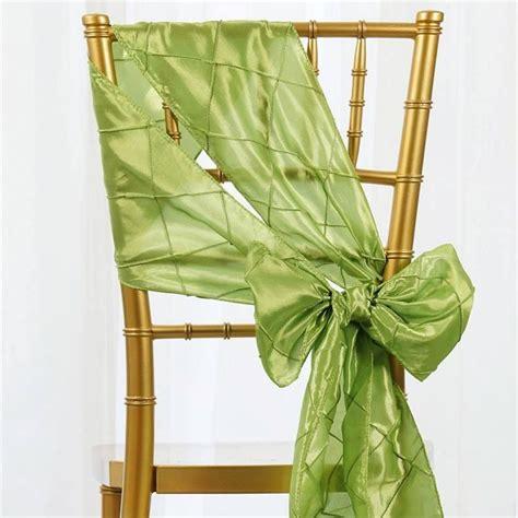 apple green pintuck chair sash efavormart