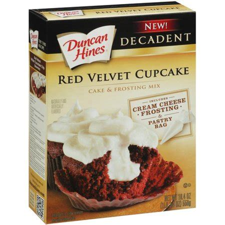 duncan hines decadent red velvet cupcake cake frosting