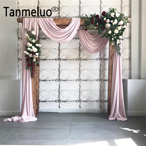 fabric draped 1 4 6m solid color terylene fabric wedding arch draping