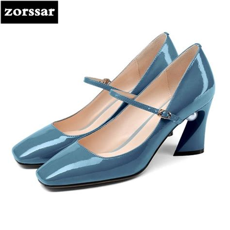 zorssar   fashion pearl patent leather womens