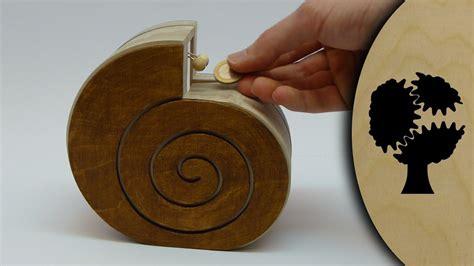 schneckchen holzsparkasse wooden coin bank youtube