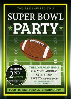 super bowl invitation vip pass birthday invitations